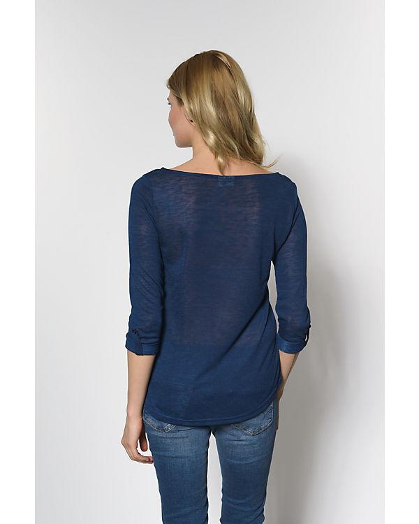 VILA Langarmshirt blau