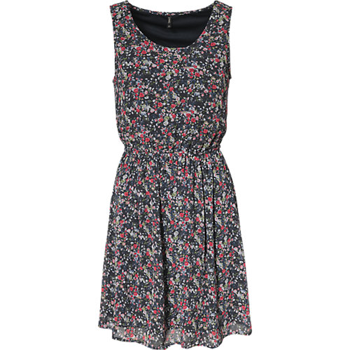 ONLY Kleid blau/rot Damen Gr. 40