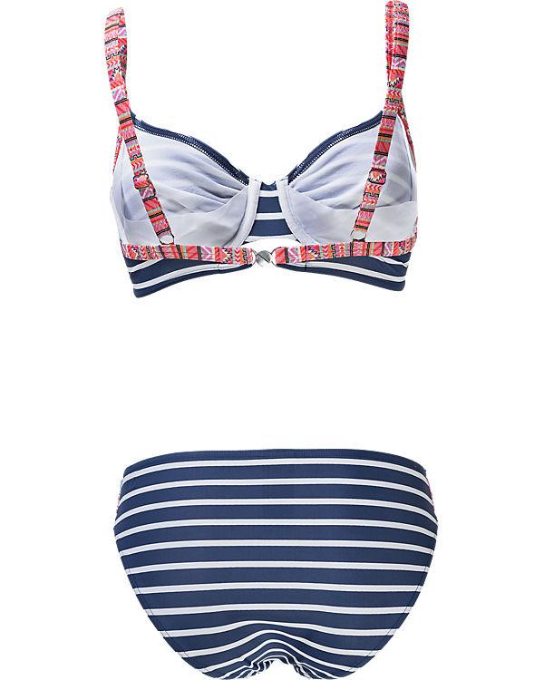 Olympia Bügel Bikini blau/weiß