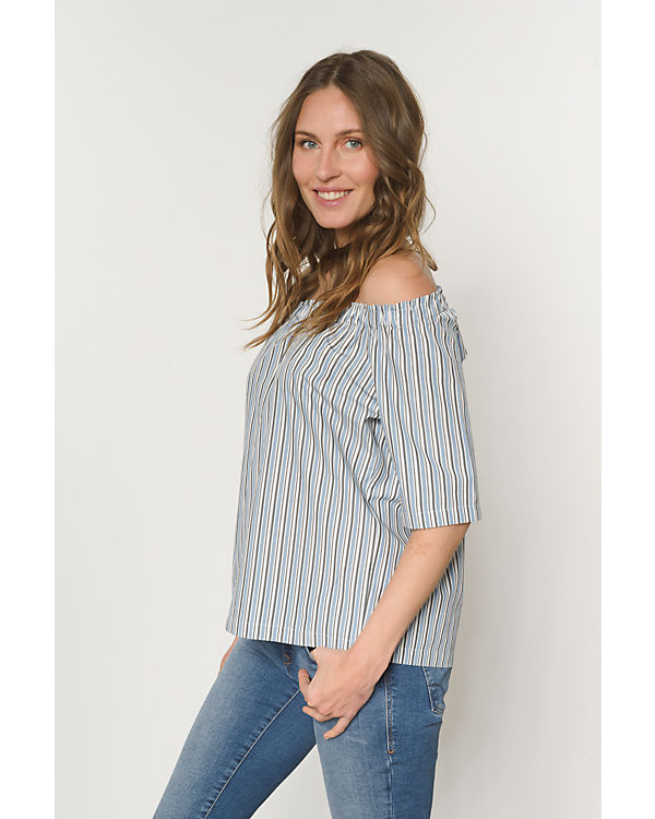 Marc O'Polo Off-Shoulder-Bluse blau