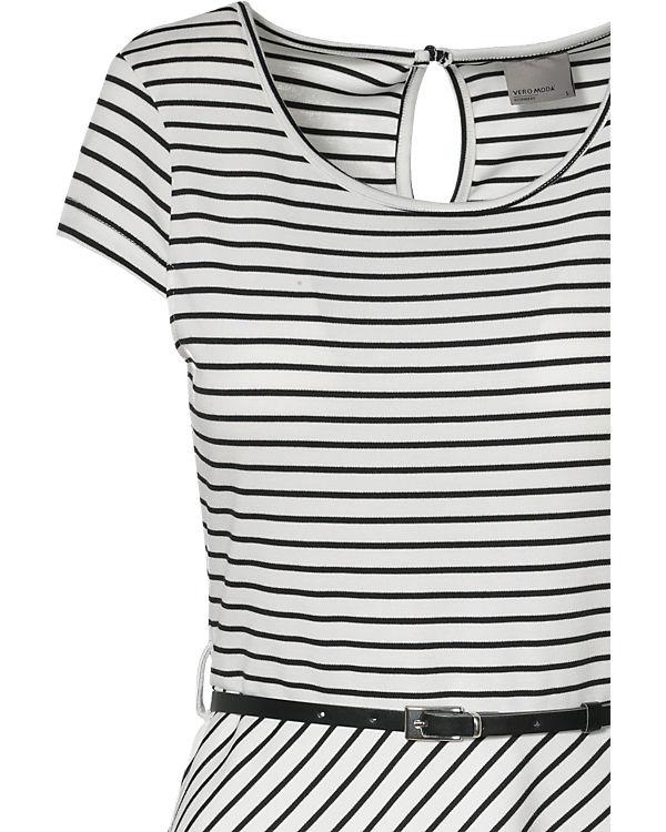 VERO MODA Kleid schwarz/weiß