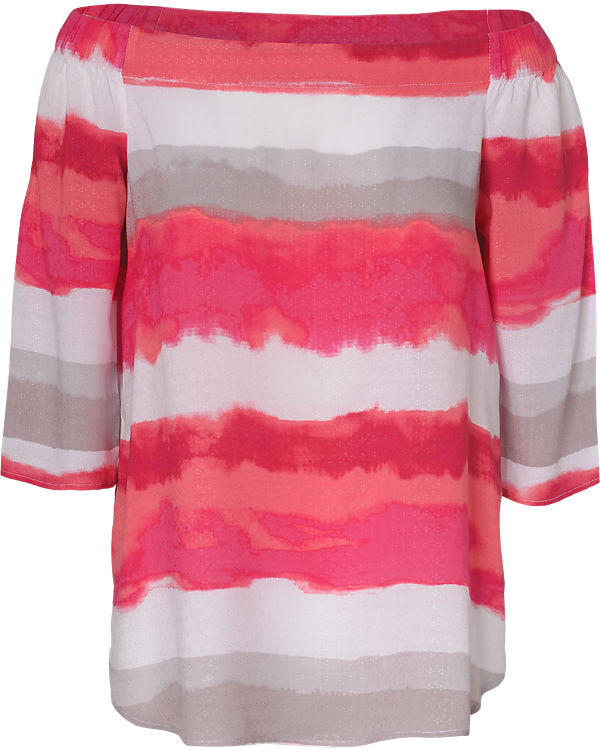 Casual Bluse Comma pink weiß Identity UdfSAwq
