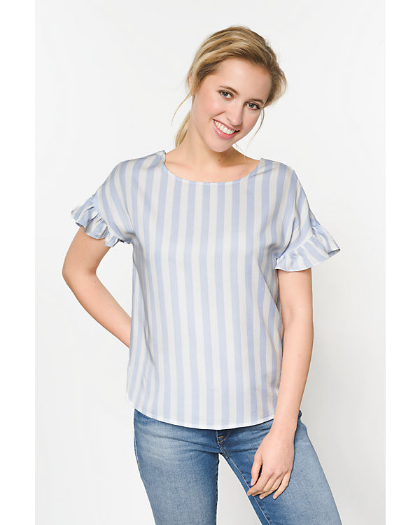 pieces Blusenshirt blau/weiß