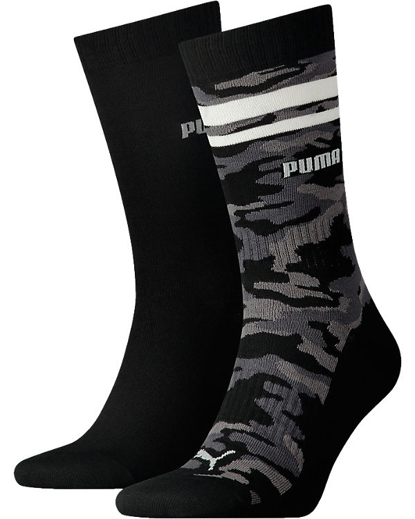 PUMA 2 Paar Socken schwarz