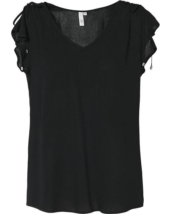 Q/S Blusenshirt schwarz