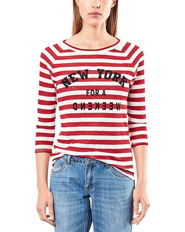 Q/S 3/4-Arm-Shirt rot