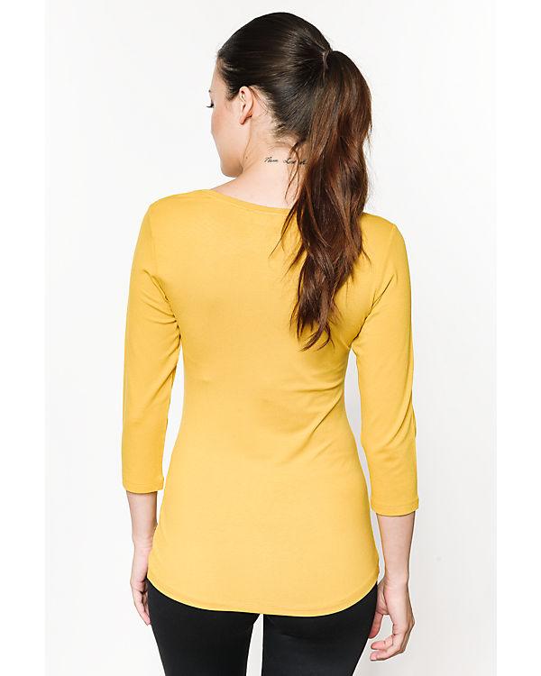 fransa 3/4-Arm-Shirt gelb