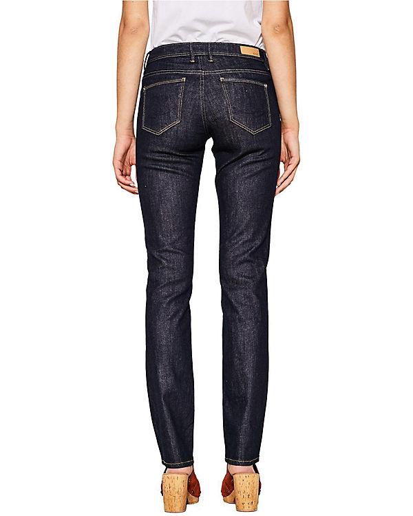 Rise blue ESPRIT ESPRIT edc by edc Straight Straight Low Jeans Low by denim blue Jeans Rise 4AYwfAqU