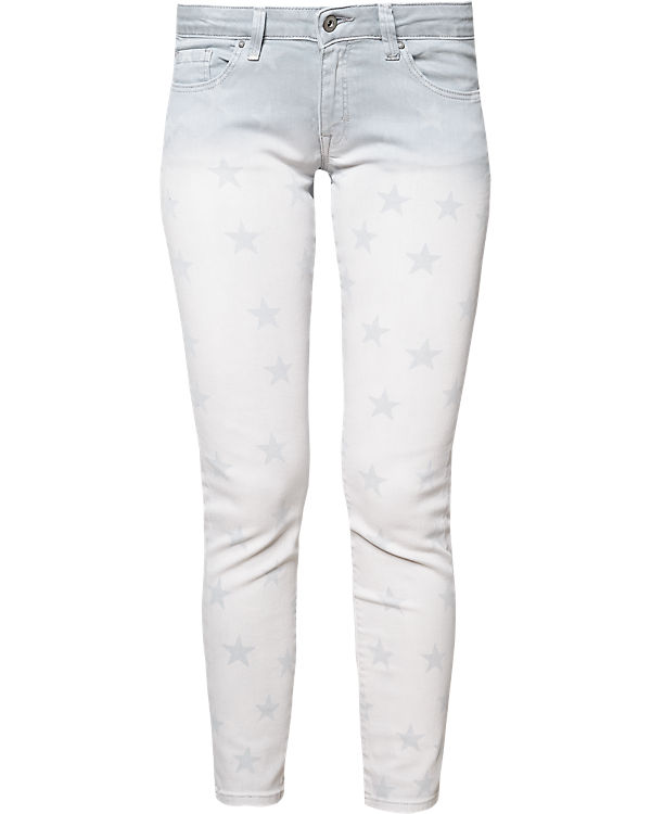 edc by ESPRIT 7/8 Jeans Skinny Medium Rise hellgrau
