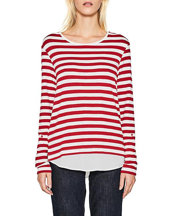 Online-Verkauf ESPRIT collection Langarmshirt rot Rabatt Authentische Online Zum Verkauf Footlocker dWFLF0AKza