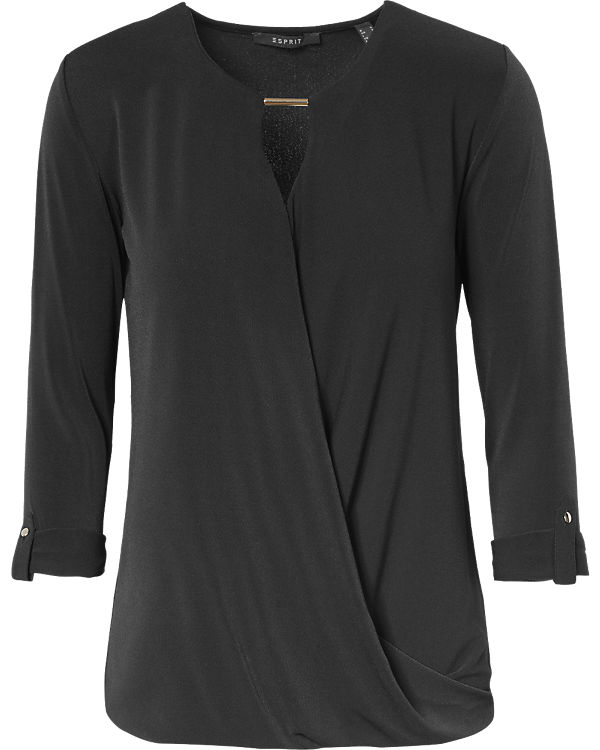 ESPRIT collection Bluse schwarz