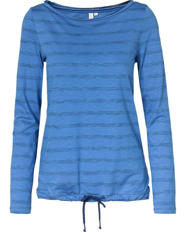 Q/S Langarmshirt blau