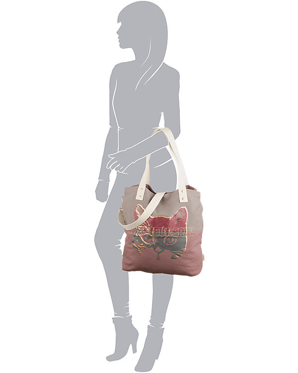 Adelheid Abenteurerin Shopper grau