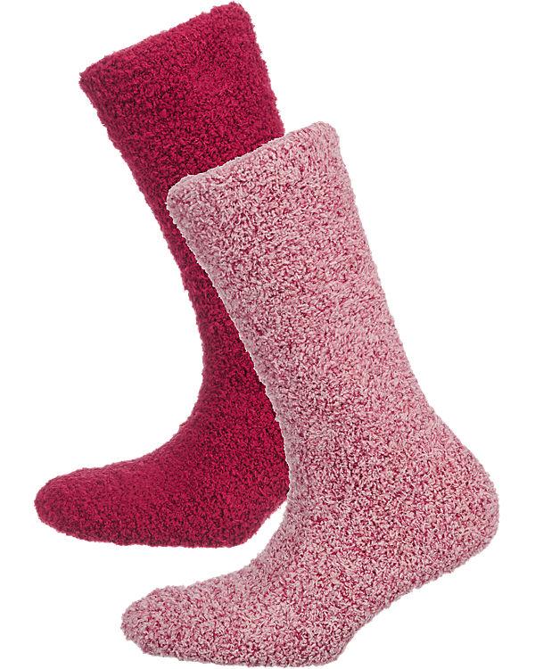 camano camano 2 Paar Socken rot