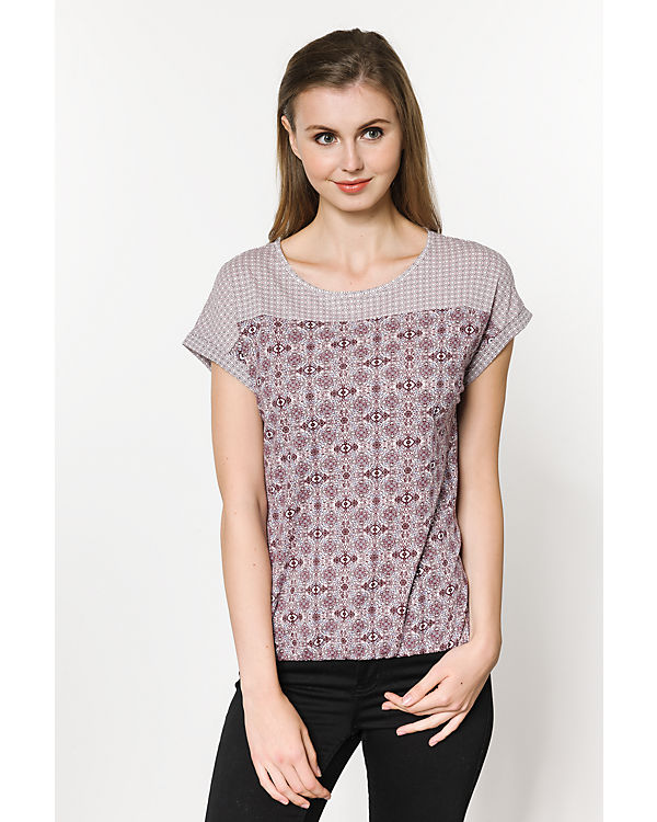 TOM TAILOR T-Shirt lila-kombi