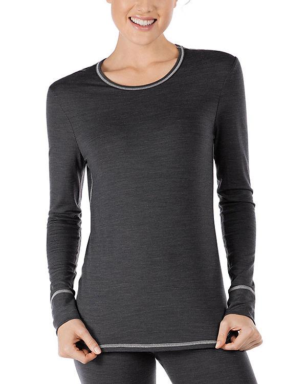 Skiny Langarmshirt Active Wool Women grau
