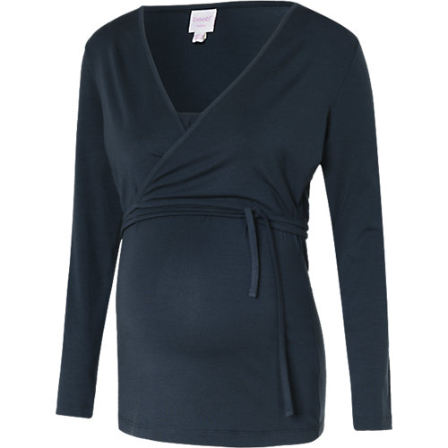 boob Stilllangarmshirt blau Damen Gr. 34