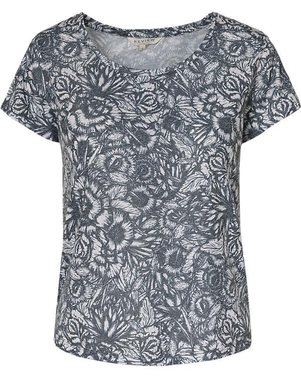 REVIEW T-Shirt blau-kombi
