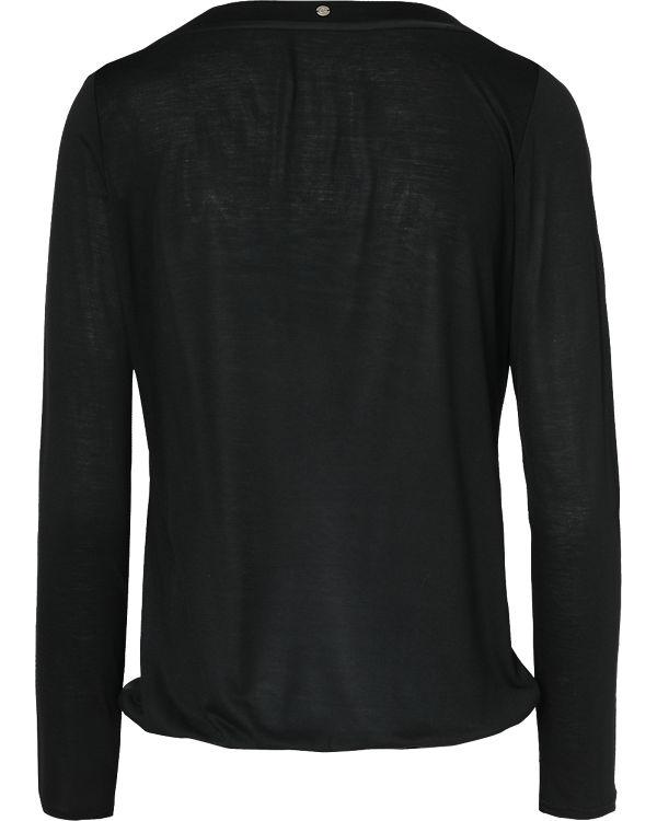 Comma Casual Identity Langarmshirt schwarz/grau