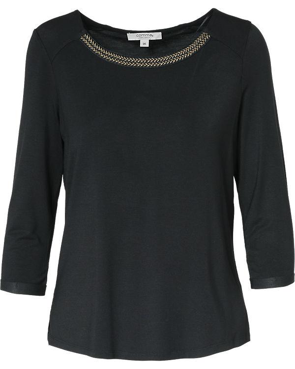 Comma Casual Identity 3/4-Arm-Shirt schwarz