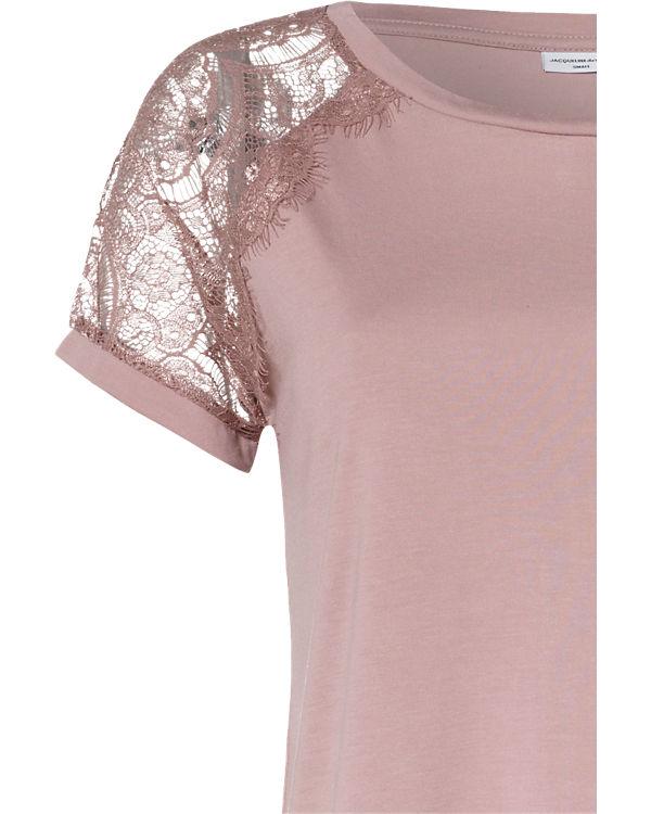 Jacqueline de Yong Spitzenbluse rosa