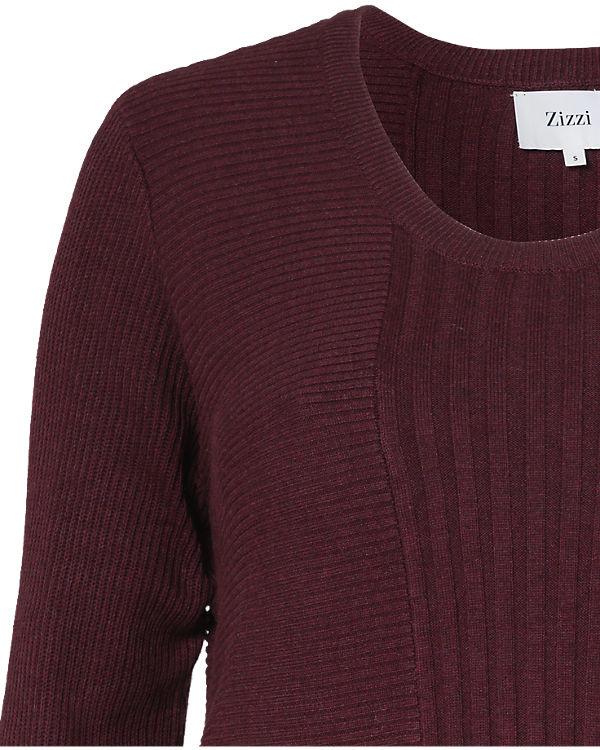 Pullover Pullover dunkelrot Zizzi dunkelrot dunkelrot Zizzi Zizzi Pullover gxq6FFw8z