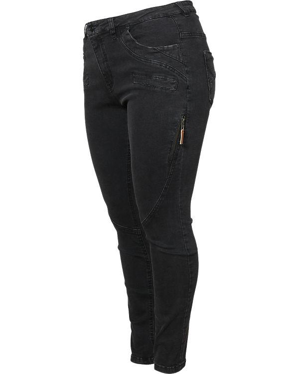 Zizzi Jeans Nille Slim schwarz