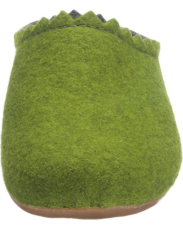 HAFLINGER HAFLINGER Everest Lotta Hausschuhe grün