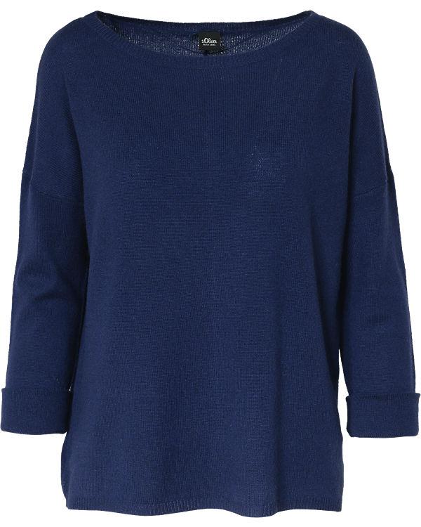 BLACK Pullover LABEL Oliver Kaschmir s blau 8w0qgx