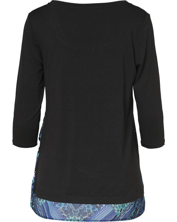 Desigual 3/4-Arm-Shirt blau