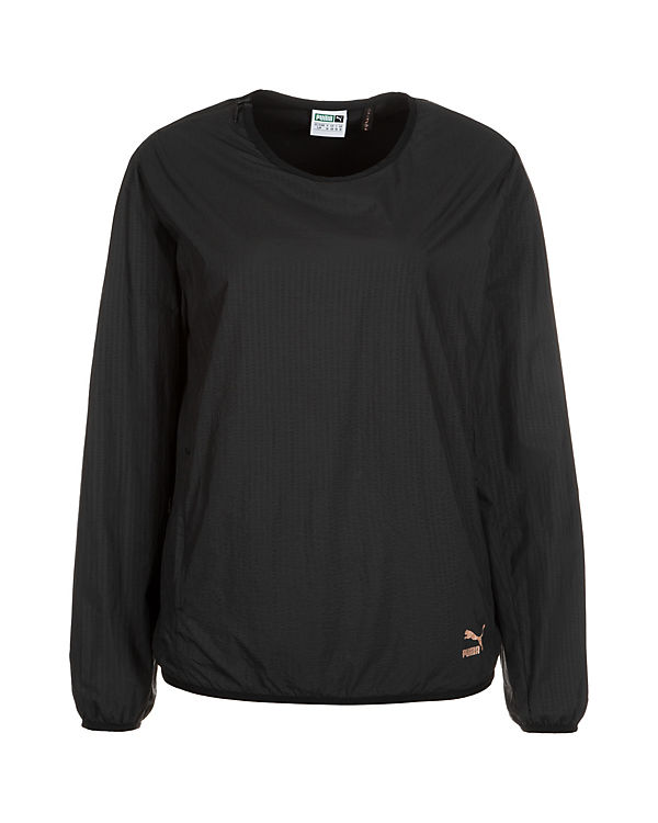Evo schwarz Embossed Sweatshirt PUMA Crew TU5wHqW