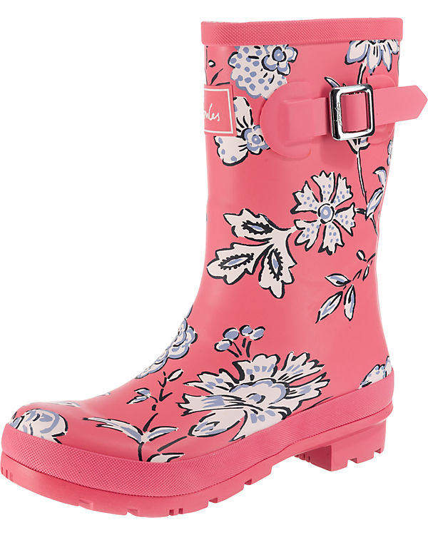 Tom Joule Mid Height Printed Welly Gummistiefel hellrot