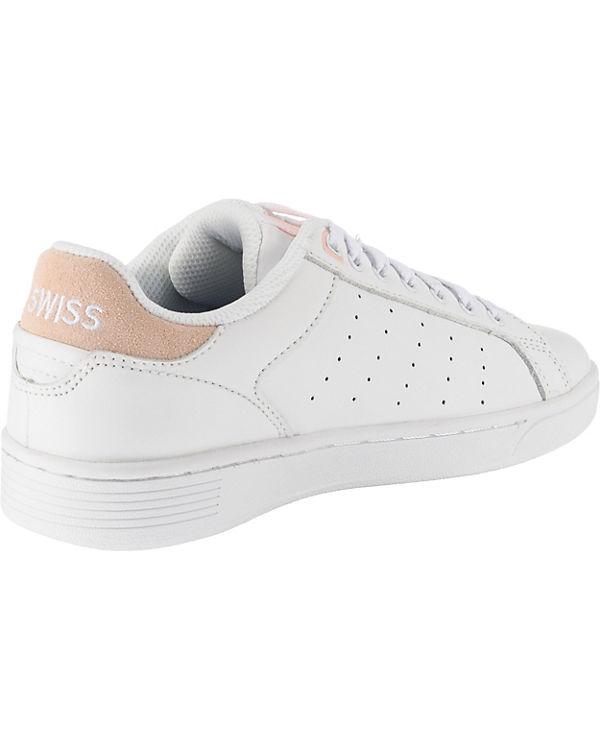 Court K SWISS weiß Low Sneakers kombi Clean SZZ4fnxqpw