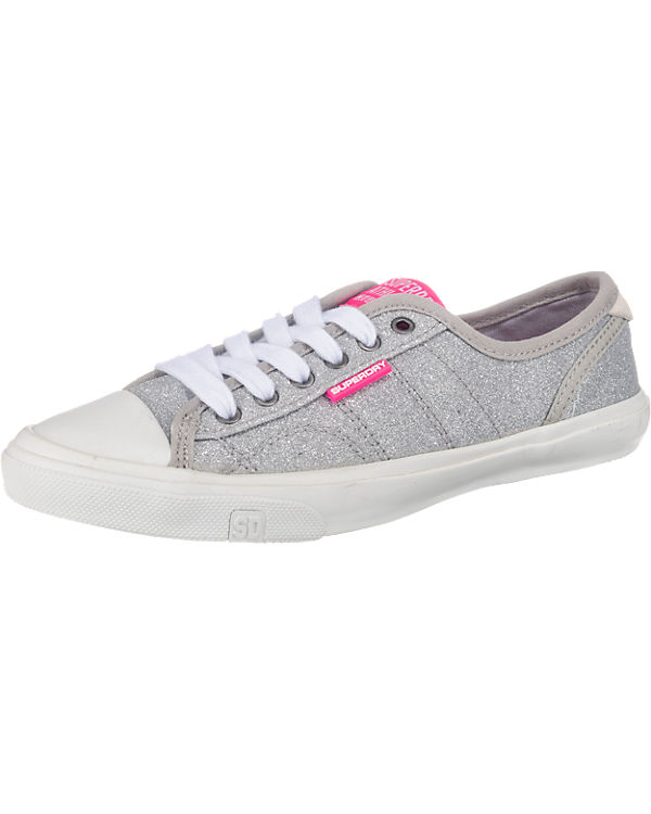 Superdry, Glitter Low Pro Glitter Superdry, Sneaker Sneakers Low, grau 828b39