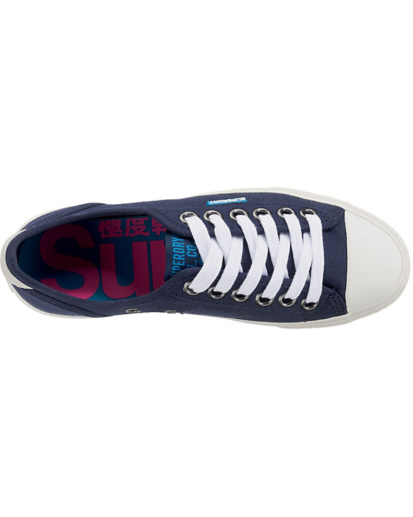 Low Superdry blau Low Sneaker Pro Sneakers 80ZaZSOHq