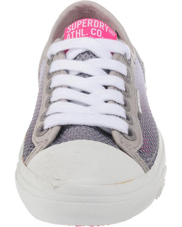 Low Low Superdry Pro weiß grau Mesh Sneakers 710Cwxdq