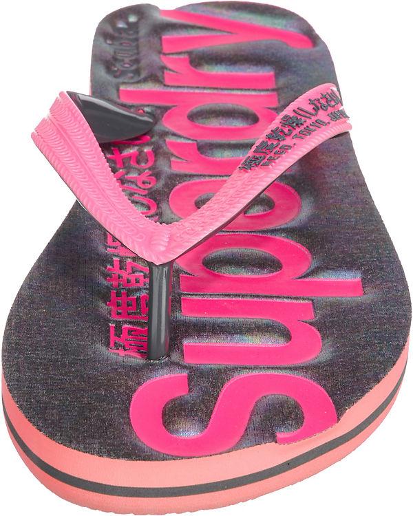 Flip Superdry pink Zehentrenner Flop Scuba Superdry Scuba wtC5qO5