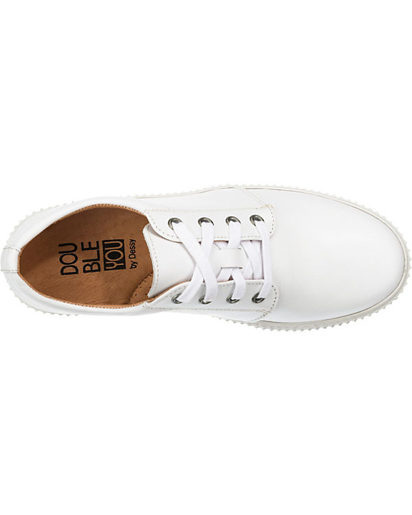 Double You Sneakers Low weiß