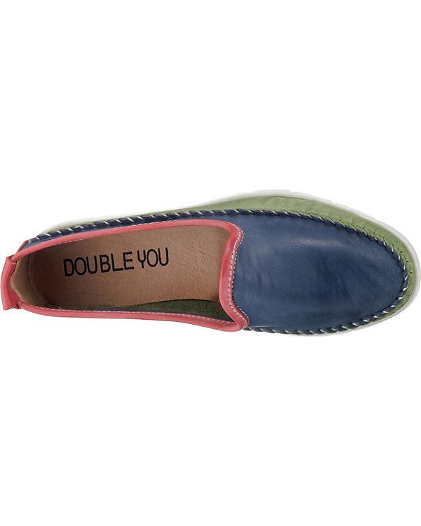 Double Bootsschuhe Bootsschuhe You Double You grün grün blau blau tAntr