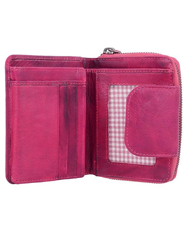 Greenburry Greenburry Dirty Geldbörse Leder 10 cm pink