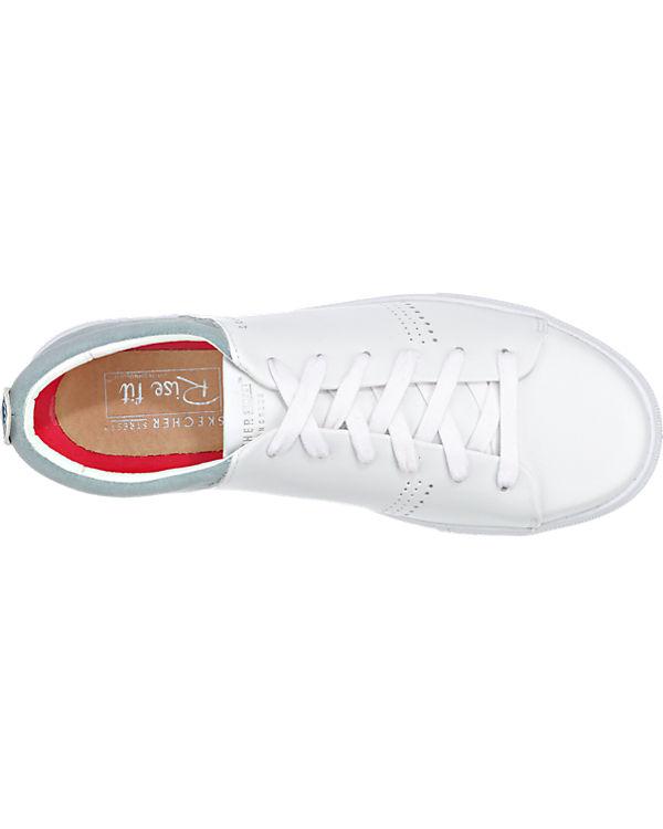SKECHERS Street Clean SKECHERS Moda Sneakers weiß rZP6r