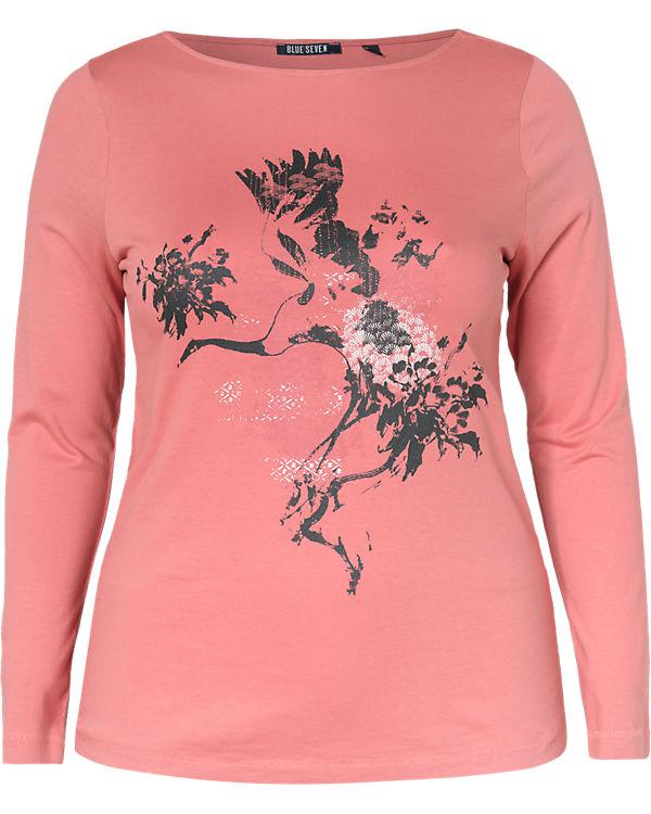 Langarmshirt SEVEN BLUE BLUE Langarmshirt SEVEN pink BLUE SEVEN pink Langarmshirt pink BLUE nqF0Hvwx