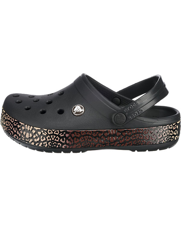crocs CROCS Crocband Leopard III Clogs schwarz