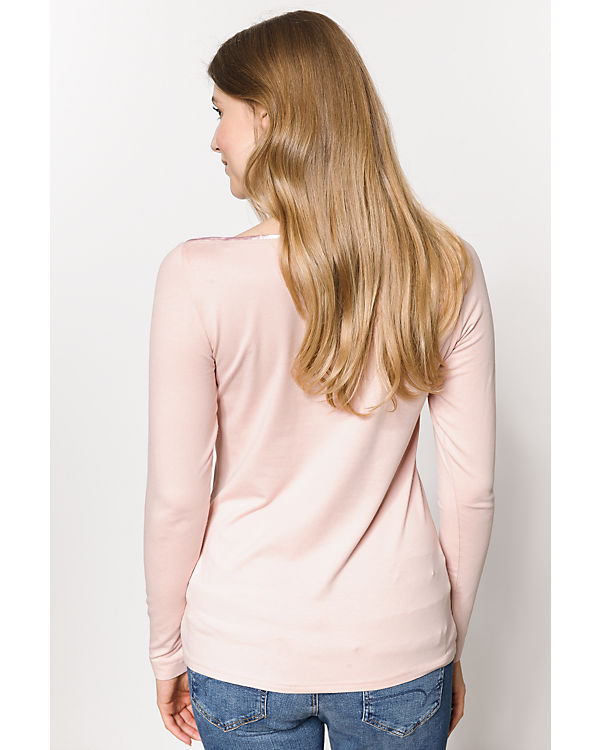 TOM TAILOR Langarmshirt rosa