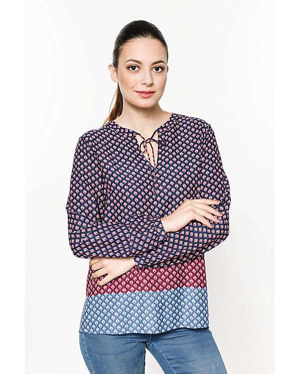 TOM TAILOR Bluse blau-kombi