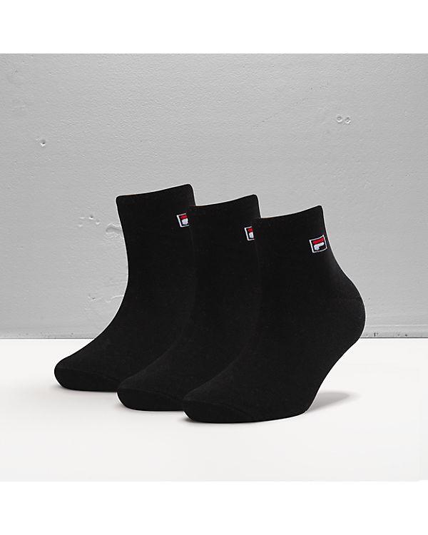 FILA 3 Paar Socken schwarz