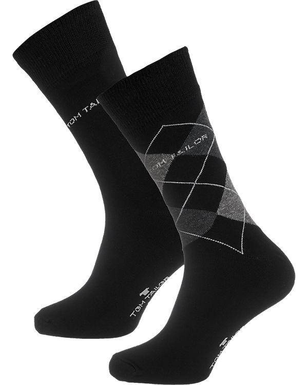 Socken Paar schwarz TOM TAILOR 2 qHwpTFx