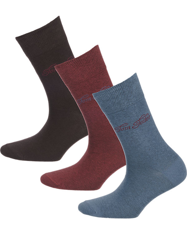 TOM TAILOR 3 Paar Socken blau