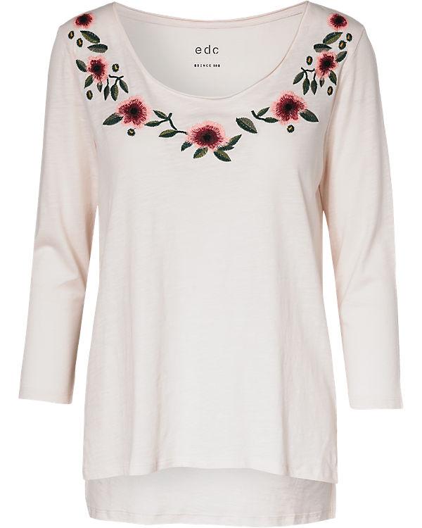 edc by ESPRIT 3/4-Arm-Shirt rosa