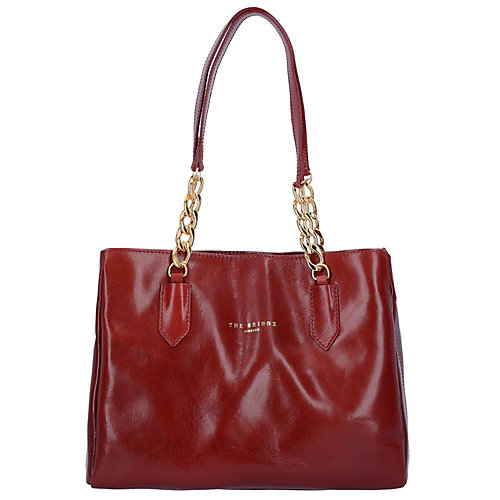 The Bridge Candy Shopper Tasche Leder 33 cm rot...